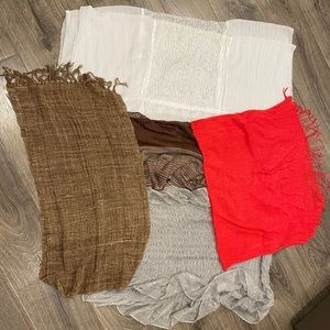 Bundle of 5 Scarves/Wraps Collection Eighteen Apt9